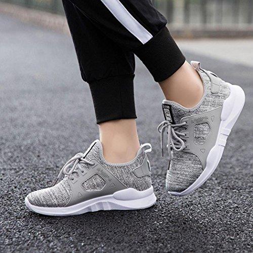 Femme Chaussure De Chaussures Gris Pour Sport Extérieure Familizo Décontractée Marche Étudiant AYaqYdf