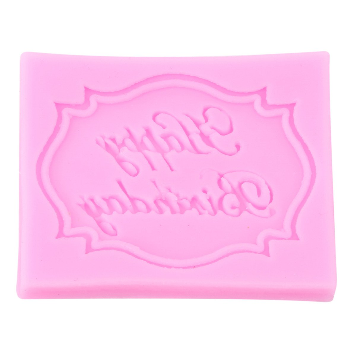 CH Pink Happy Birthday Silicone Molds Chocolate Fondant Letter Form Of The Alphabet Cake Decoration Tools Baking Utensils