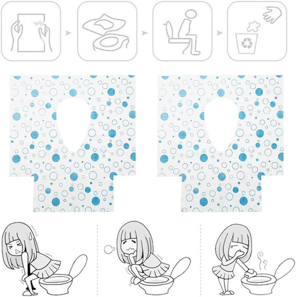 Messes 20 Pack Potty Seat Cover Promotes Proper Hygiene Flushable Disposable Paper Large Size Travel Toilet Seat Cover B with Adhesive Cleanliness A Reduce Germs Kid-Friendly No Slip