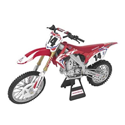 Orange Cycle Parts Die-Cast Replica Toy Red 1:12 Scale Model Cole Seely Team Honda HRC Seely Dirt Bike by NewRay 57933: Automotive