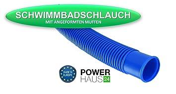 Schwimmbadschlauch 9m 38mm BLAU Muffe Schwimmschlauch Pool