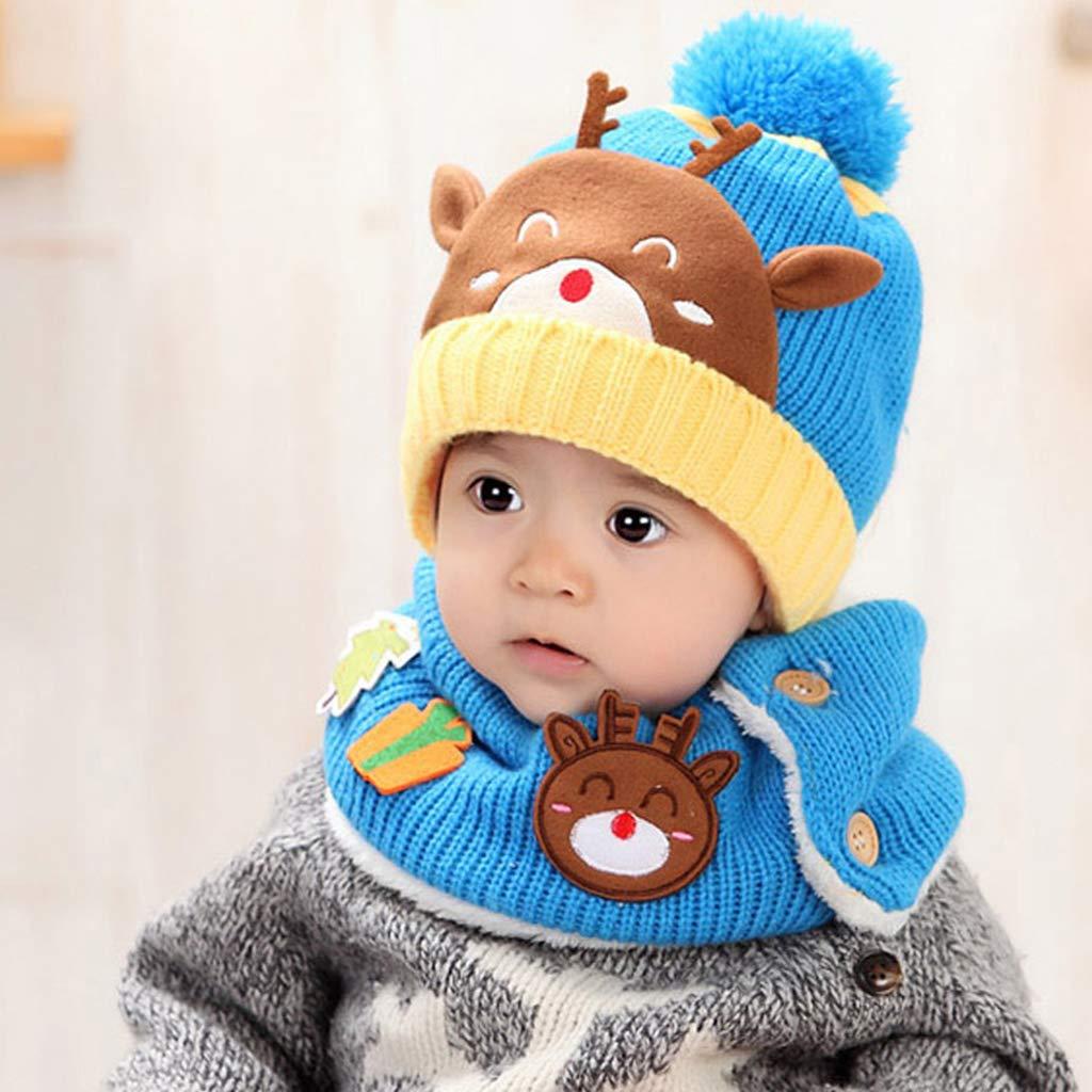 Liny Berretto Sciarpa Bambino Invernale - Unisex Cappello Bimbo Caldo Hood Sciarpa  Earflap Ragazze dei Neonati Bambini Autunno a Maglia Cappuccio  ... 4daa050cc6d5