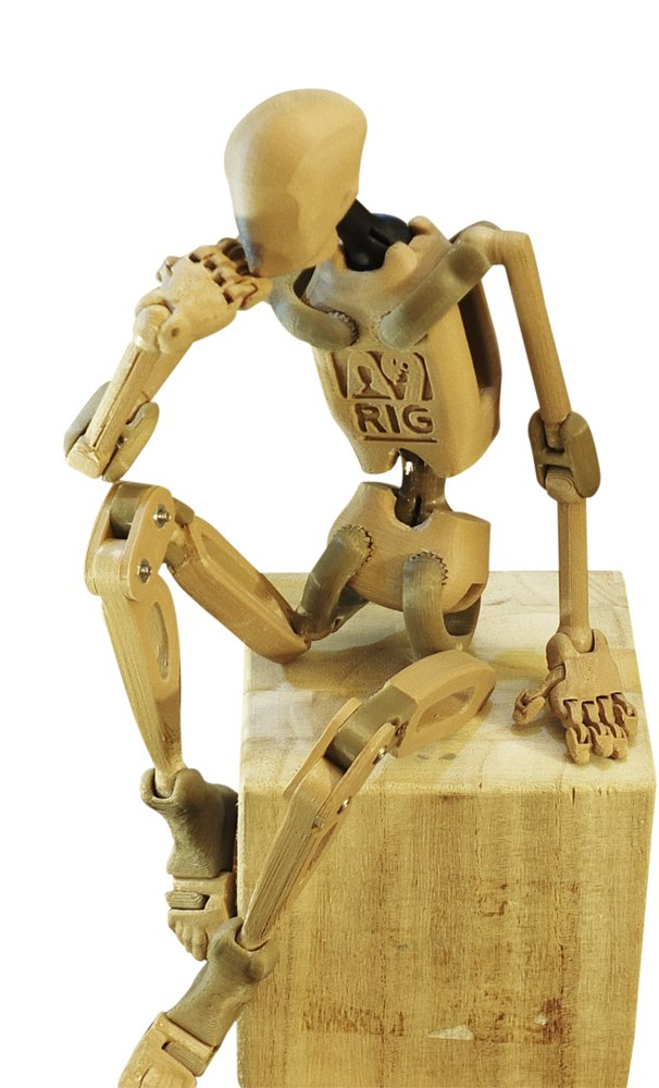 Wood Composite with Brown Plastic Armature Nine Ranger