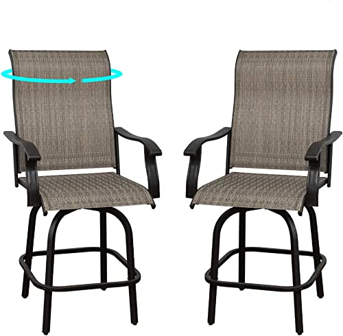 Outdoor Swivel Bar Stools Bar Height Patio Chairs,Bar Chairs