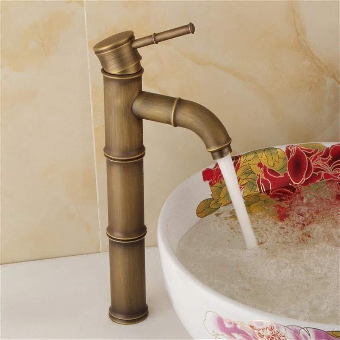 Basin Sink Mixer Faucet European Retro Hot and Cold Water Basin Faucet Washbasin Bathroom Washbasin Faucet Antique Above Counter Basin Faucet