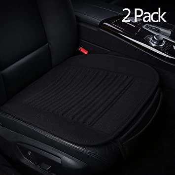 Gray Front Seat Suninbox Car Seat Cushion,Car Seat Covers Buckwheat Hulls,Car Seat Pads Mat for Auto,Universal Bottom Driver Car Seat Protector Ventilated Breathable Comfortable