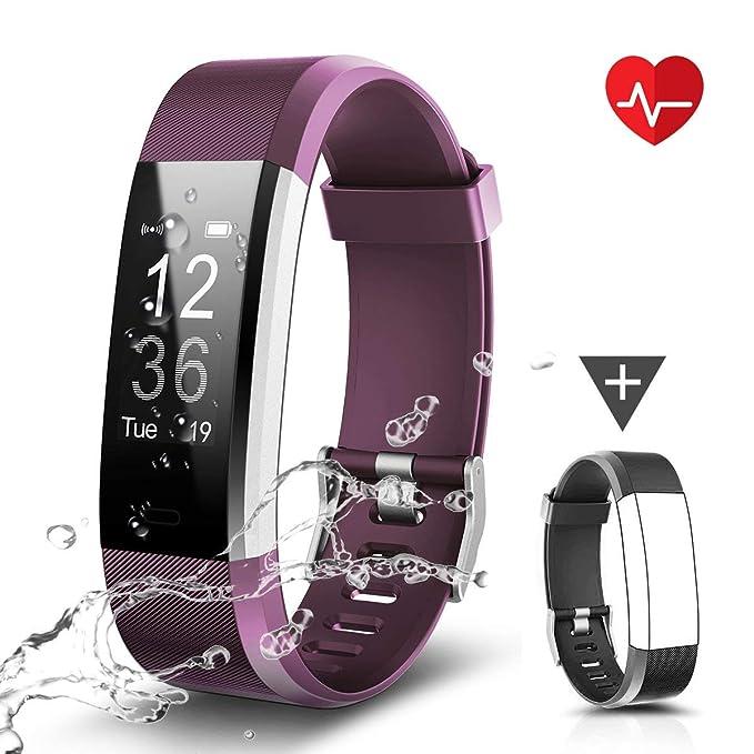 CHEREEKI Fitness Armband, Fitness Tracker Uhr mit Pulsmesser, Wasserdicht IP67 Aktivitätstracker Pulsuhren Bluetooth Smart Ar