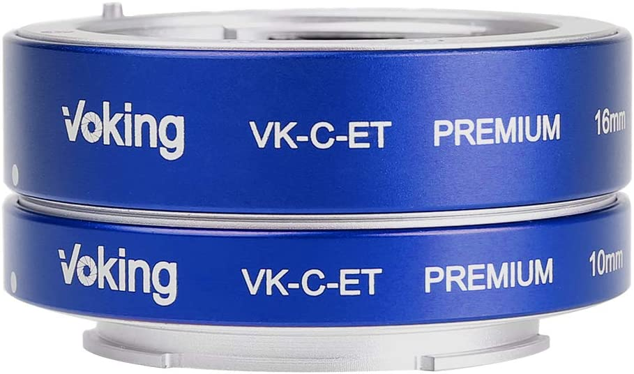 Voking VK-C-ET 10mm+16mm Metal AF Auto Focus Macro Close-up Extension Tube Adapter Ring Kit for Canon Mirrorless Canon M2 M3 M5 M6 M10 M50 M100 EOS-M Cameras