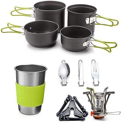 FYHCY 10 Piezas Mini Kit de Utensilios de Cocina, Camping ...
