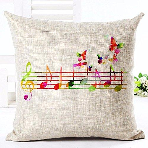 MAYUAN520 Cojines Notas Musicales Personal Arrojar Patrones ...