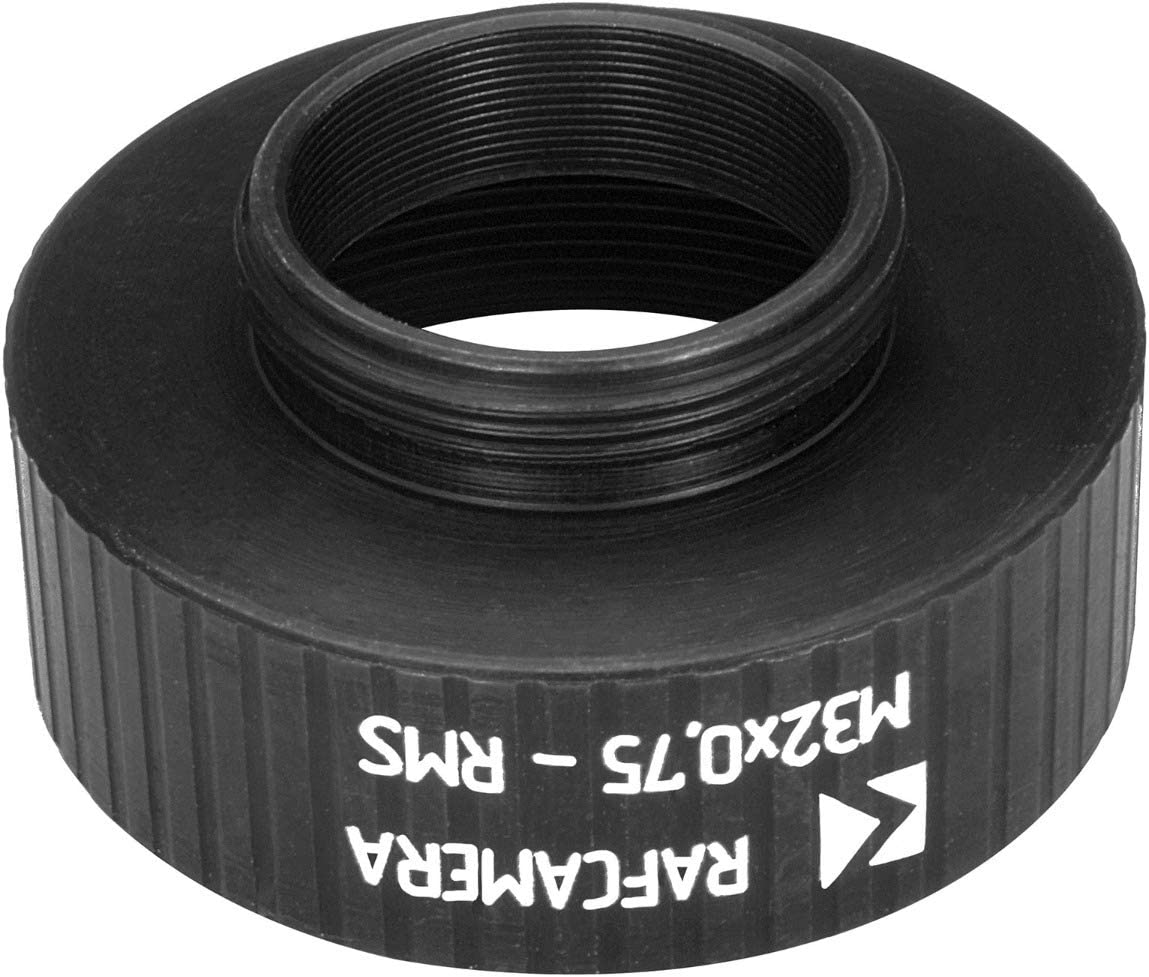 12mm Height RMS Male to M32x0.75 Female Thread Adapter Black
