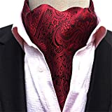 Men's Cravat Self Tie Paisley Jacquard Woven Luxury Ascot Color 1