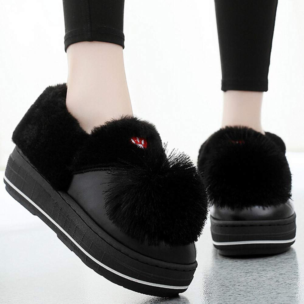 Amazon.com | Boots Women Home Warm Cotton Shoes Thick Bottom Cute Tassel Flat Boots | Boots