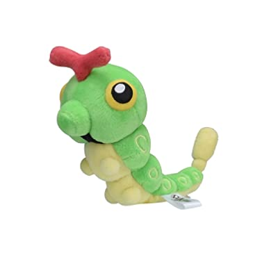 Pokemon Center Original Fit Caterpie Chenipan Raupy Plush Peluche: Toys & Games