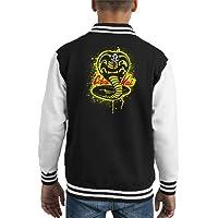 Cloud City 7 Strike First Cobra Kai Snake Logo Kid's Varsity Jacket