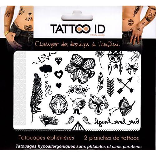 Tattoo Id Mix Noir Et Blanc Tatouage Ephemere Temporaire