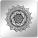 Azeeda 6 x 'Elegant Mandala' 95mm Mirror Coasters (CR00119926)