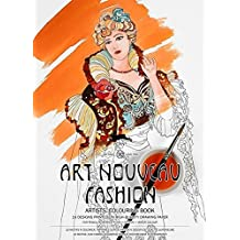 Artists' Colouring Book Art Nouveau Fashion by Harry Hill