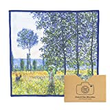 """EXTRA LARGE [4 Pack] Classic Art(Claude Monet """"Sunlight Effect under the Poplars"""")-ULTRA PREMIUM QUALITY Microfiber Cleaning Cloths(Best for Camera Lens, Glasses, Screens)"""