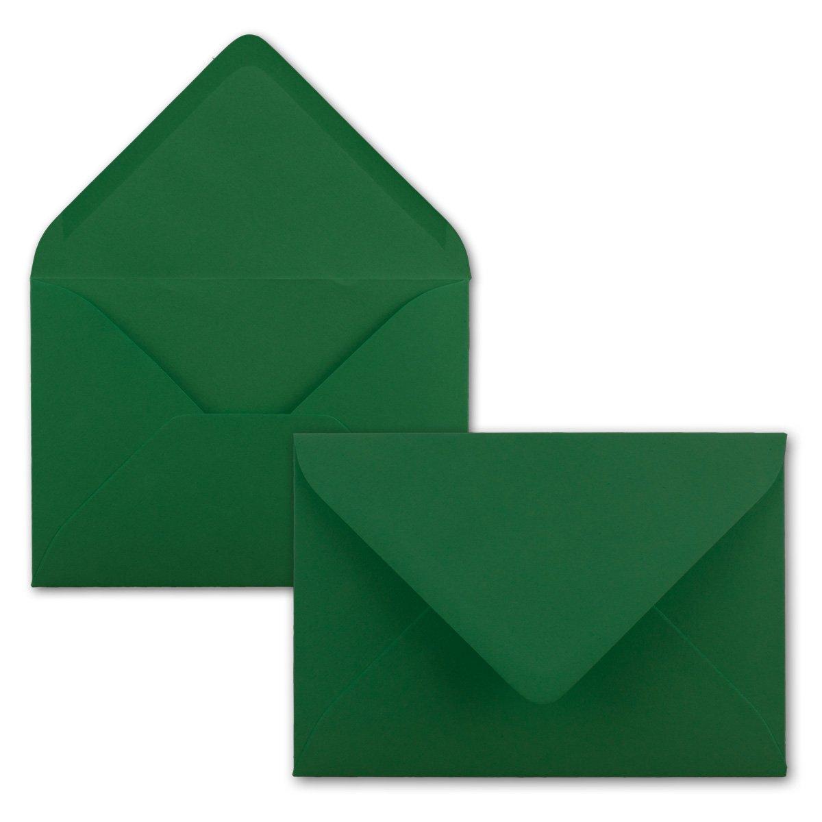 200x Stück Stück Stück Karte-Umschlag-Set Einzel-Karten Din A7 10,5x7,3 cm 240 g m² Dunkelgrün mit Brief-Umschlägen C7 Nassklebung ideale Geschenkanhänger B07P2WXX7W Grukarten Internationaler großer Name 6a30f8