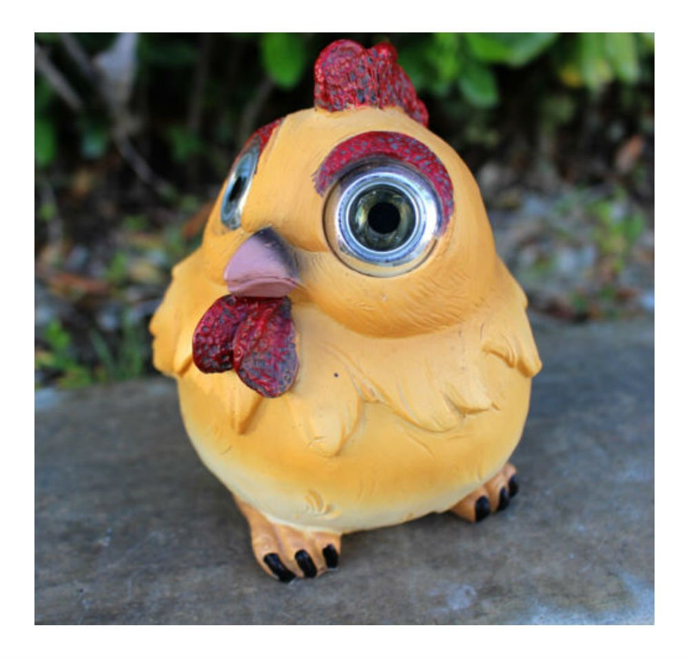 Outdoor Garden Decor Solar Animal Figurine Statue LED Landscape Patio Light (Chicken/Rooster)