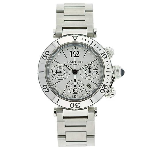 Cartier Hombre w31089 m7 Pasha Seatimer Cronógrafo Reloj: Cartier: Amazon.es: Relojes