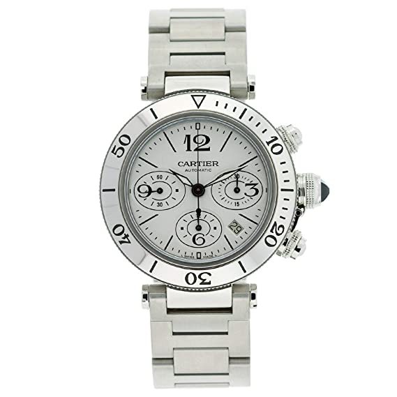Cartier Hombre w31089 m7 Pasha Seatimer Cronógrafo Reloj