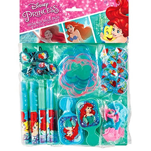 [American Greetings The Little Mermaid Party Favor Value Pack] (Disney Little Mermaid Flounder Costume)