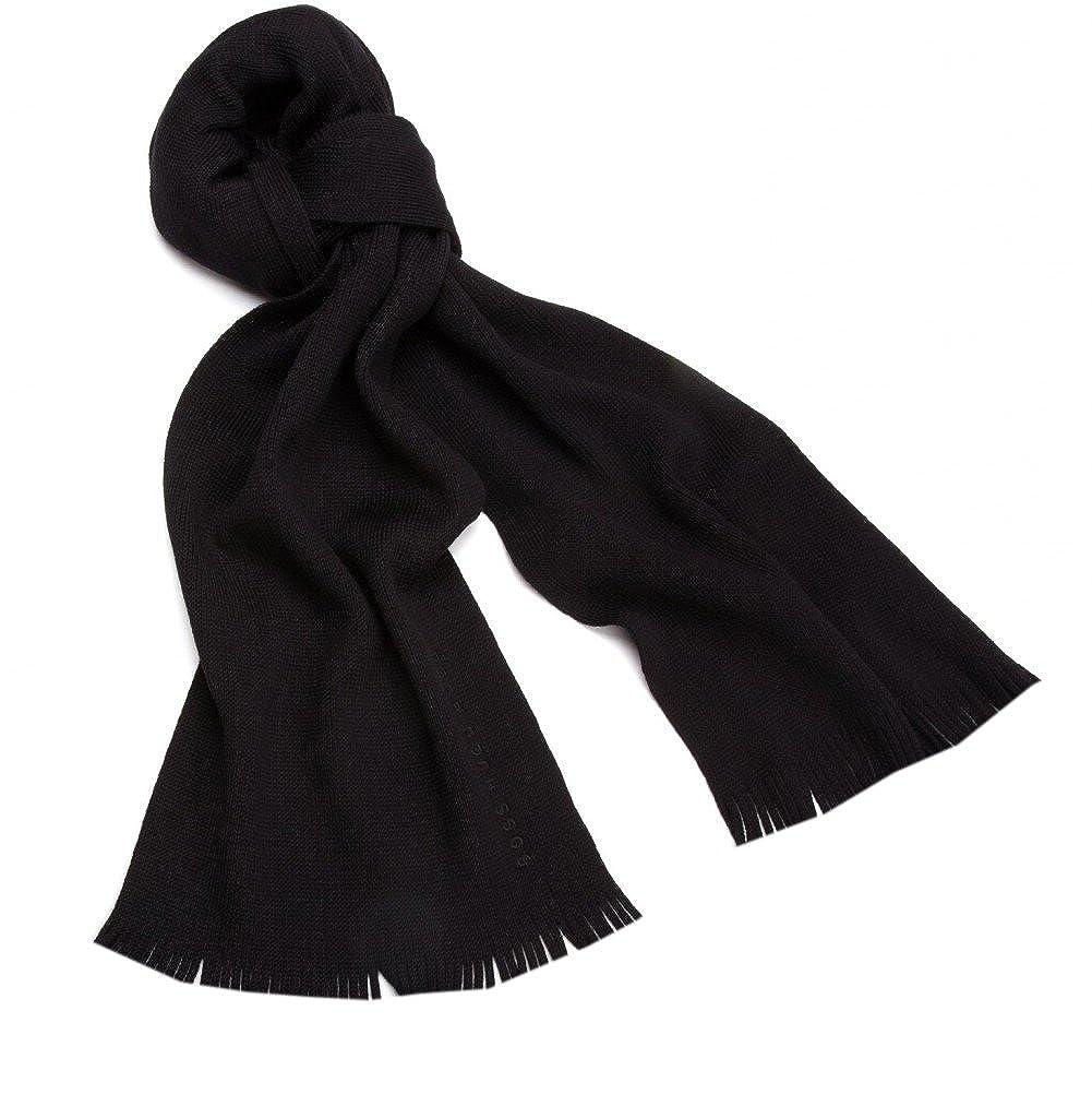 Elegante sciarpa invernale in seta di alta qualitଠmolto elegante, colore nero 110011