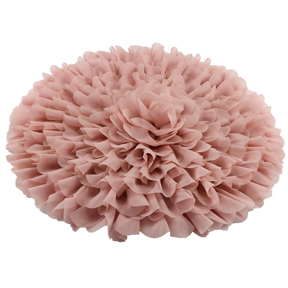 D& J Don& Judy Handcraft Soft Chiffon Round Flower Blanket Newborn Photography Props DJC000206