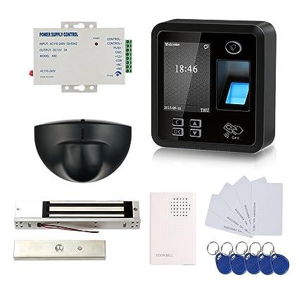 Biometric Fingerprint & RFID Kits de control de acceso Smart Keyless System 600LBS Electromagnética 110V Unidad