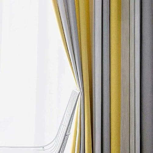 Leadtimes Linen Striped Decorative Curtains Bedroom Blackout Light Blocking Grommet Drapes