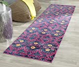 Safavieh Monaco Collection MNC213D Modern Bohemian Colorful Pink and Multi Distressed Runner (2'2″ x 6′)