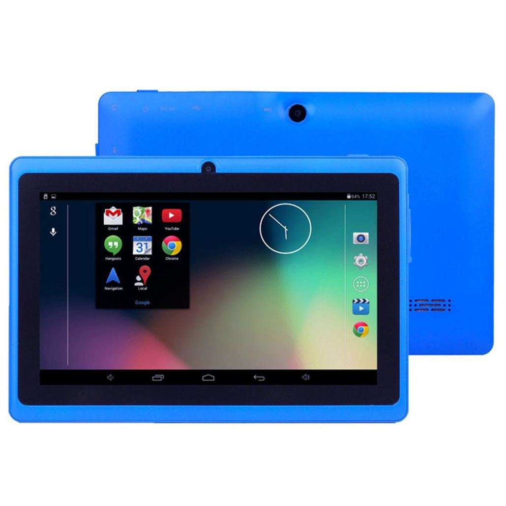 7Inches Tablet PC HD Touchscreen Mic WIFI Android 4.4 Octa Core Quad Core Tablet PC 1GB + 8GB Dual Camera Wifi,Support Games, Skype,MSN,Facebook, Twitter, etc (Blue)