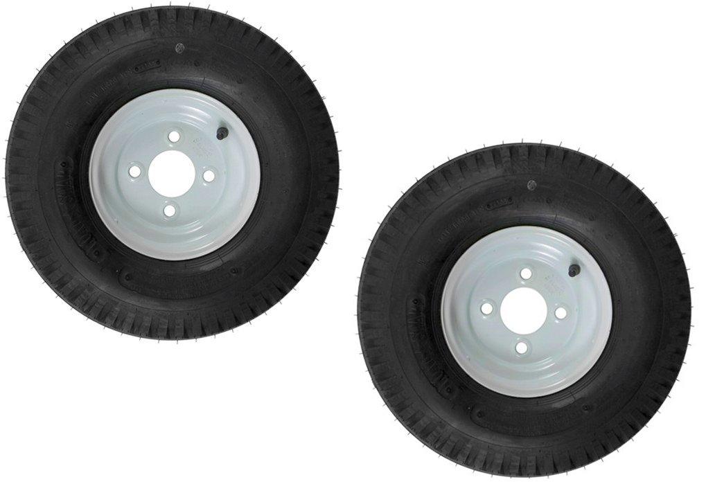 eCustomRim 2-Pk Trailer Tire & Rim 570-8 5.70-8 8 Load C 4 Lug White 39324