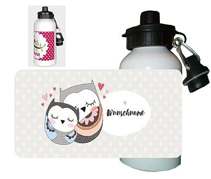 Niños Botella Búhos con su propio nombre Nombre Personalizado personalizable muchos diseños