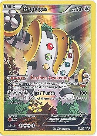 carte pokemon full art regigigas XY82 holo Neuf Avec Protection
