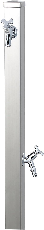 ユニソン(UNISON) 立水栓 スプレスタンド60 左右仕様 ステンレスシルバー 蛇口2個セット シルバー B01IH1H8RQ 27860  ステンレスシルバー