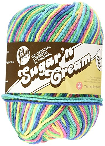 Lily Sugar 'N Cream Super Size Yarn, 3 Ounce, Psychedelic, Single (3 Crochet Yarn)