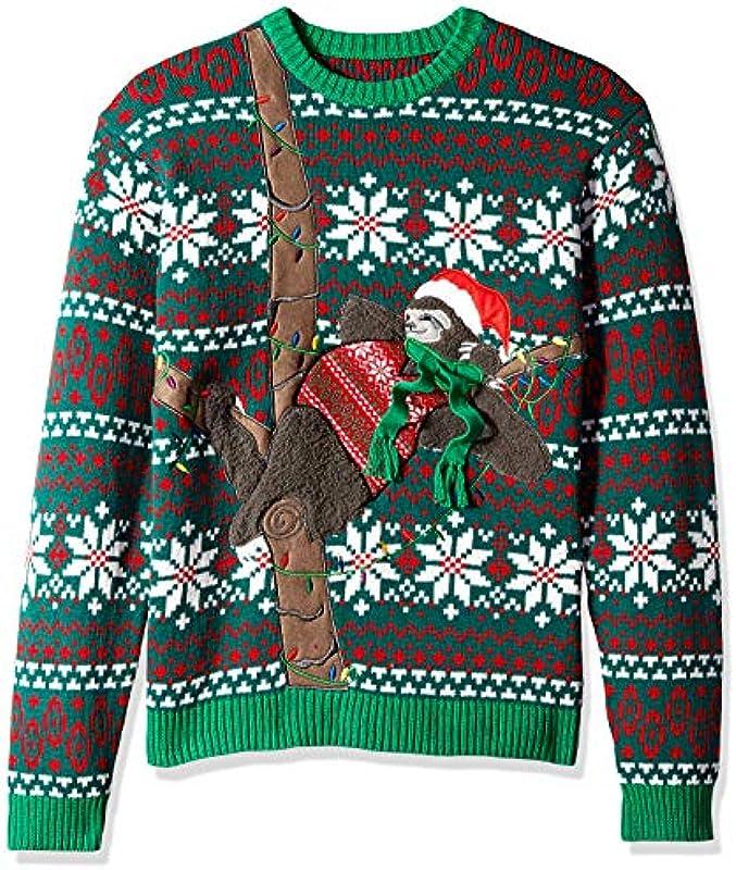 Blizzard Bay Męskie Sleepy Sweater Sloth Pullover: Odzież