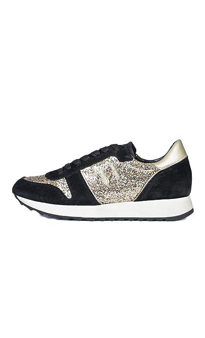 Trussardi Jeans 79S045XX Sneakers Donna Crosta Nero  Oro Nero  Oro 40   Amazon.it  Scarpe e borse 352d88c6e92