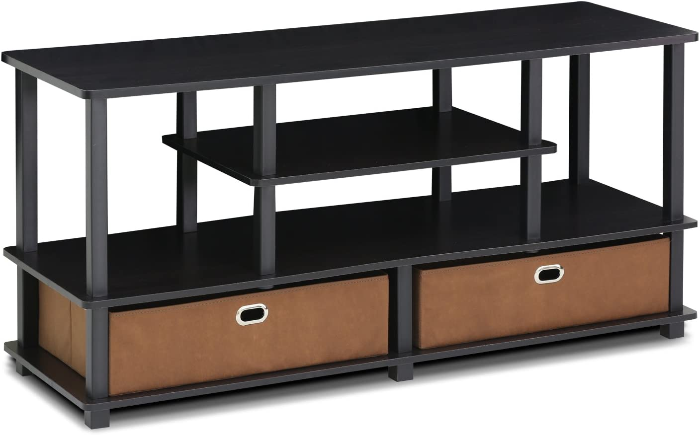 FURINNO JAYA TV Stand, Black: Furniture & Decor