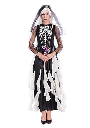 Amazon Jj Gogo Halloween Nun Costume Black White Scary Zombie