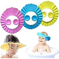 Baby Shower Cap Kids Shower Cap Safe Shampoo Shower Bathing Protection Baby Bath Accessories Bath Visor Adjustable Visor…
