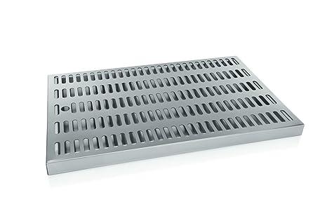 Chapa de acero inoxidable escurridor 44 x 27,5 x 3 cm ...