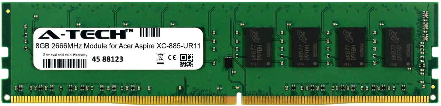 A-Tech 8GB Module for Acer Aspire XC-885-UR11 Desktop & Workstation Motherboard Compatible DDR4 2666Mhz Memory Ram (ATMS267112A25818X1)