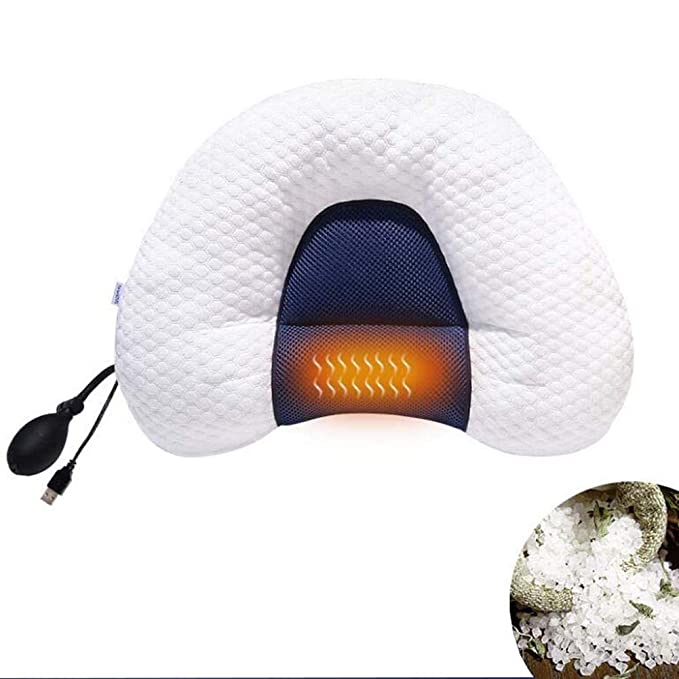 Amazon.com : Ttrar Intelligent Cervical Pillow Height Adjustment Neck Pillow Heated U-Shape Sleep Music Pillow, A : Sports & Outdoors