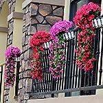 MIGUOR-Artificial-Decoration-Silk-Cloth-Violet-Flowers-Basket-Fake-Hanging-Wall-Decor-Artificial-Vines-Plastic-Flower-Basket-Home-Hotel-Wedding-Garden-Decor-Outdoor-Building-Decor-Rose-red
