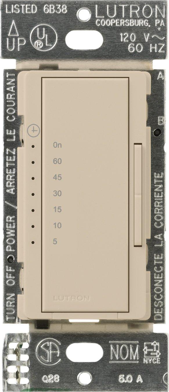 Lutron MA-T51MN-TP Maestro 600-Watt 3-Amp Multi-Location Digital Countdown Timer Control Switch, Taupe