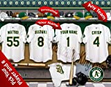 Oakland Athletics Team Locker Room Clubhouse Personlized Officially Licensed MLB Photo Print